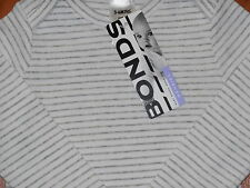 BONDS Baby Boy Girl Striped Tee Top Grey Size 00 Fits 3-6m NEW