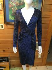 Diane von Furstenberg Vintage New Julian Wrap Jersey Silk Dress Size 6