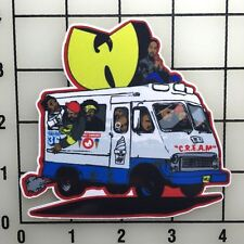 """Wu Tang Ice Cream Truck 4"""" Wide Color Vinyl Decal Sticker - BOGO"""