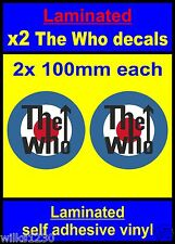 Laminated 2x The Who RAF Roundel Mod Target Scooter Decals stickers Vespa THEWHO