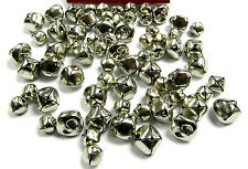 Jingle Bells Silver 70 Pcs Mix Pack of 10mm & 15mm Jingle Sound Charms Craft