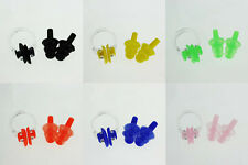 Swimming Waterproof Set Nose Clip Earplugs HU Silicone CA Soft Swim Ear Plug