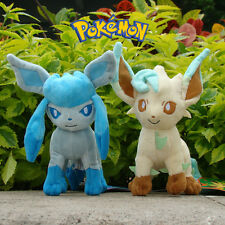 "2Pcs Nintendo Pokemon Go Plush Toy Glaceon & Leafeon 7"" Cute Stuffed Animal Doll"