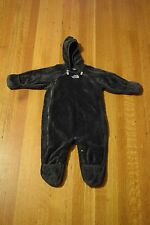 North Face Buttery Fleece Bunting Baby Snow Suit Sz 6-12 Months? Charcoal Gray