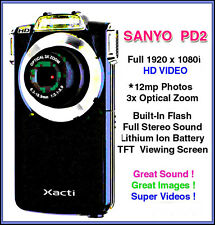 SANYO PD2 12mp w/OIS + TFT screen 1920x1080i Built-in FLASH +8gb SD+Box+Case