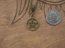 Pentagram Wiccan Necklace Bronze