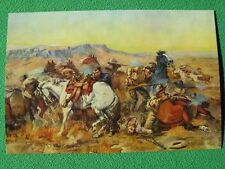 """Charles Russell Western Art Cowboys Fight Indians """"A Desperate Stand"""" Vintage A+"""