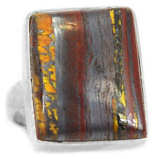 Iron Tiger Eye 925 Sterling Silver Ring Jewelry s.7 ITER198