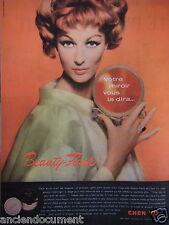 PUBLICITÉ 1958 CHEN YU VOTRE MIROIR VOUS DIRA BEAUTY-FLASH - ADVERTISING