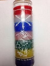 7 SWORDS OF SAINT MICHAEL 7 DAY 7 COLOR UNSCENTED CANDLE IN GLASS (SAN MIGUEL)