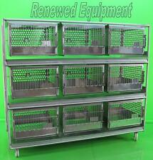 """Stainless Steel 9 Slot Rabbit Dog Cat  Cage L 83"""" x W 32"""" x H 72"""""""