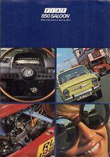 FIAT SEAT 850D Saloon 1973-1974 mercato britannico FOLDOUT BROCHURE DI VENDITA