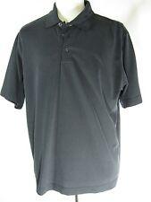 Men's AXIS LA Polo Shirt 55% Modal Rayon 45% Polyester Black Size XL