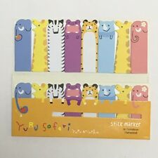 120 Sheets Cute Safari Animals Mini Sticky Notes Page Marker Memo Tab Sticker UK
