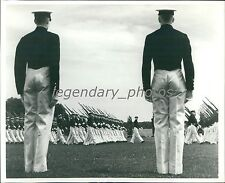 1938 Midshipmen on Review at US Naval Academy Original News Service Photo