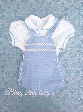 Baby Boys Spanish Traditional Romper , Shorts Outfit , Set , Romany 0-6 Months