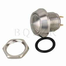 12mm Mounting Anti-Vandal Momentary Silver Stainless Steel Push Button Switch
