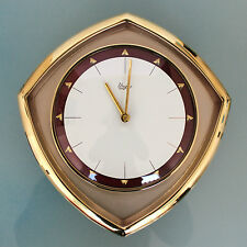 JUNGHANS URGOS Wall TOP!!! Clock 8 Day Winding Vintage 1960s German Brass/Glass