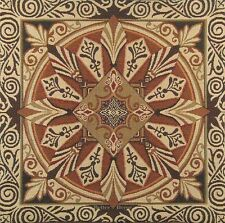 "20"" DECORATIVE TAPESTRY PILLOW / CUSHION COVER Brown Ornament MEDIEVAL ACCENT"