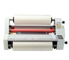 "V350 13"" Hot Cold Roll Laminator Single&Dual Sided Laminating Machine 220V Y"