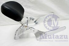 Mutazu Premium Backrest Sissy Bar w/ Luggage Rack for Yamaha Warrior XV 1700