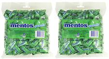 Bulk Lot 2 x Mentos GREEN Spearmint Pillow Pack 1.08kg Minty Chews Buffet Favors