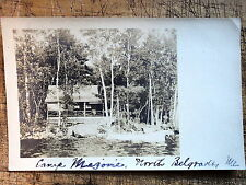 RPPC Camp Scene North Belgrade Maine Me 1908s
