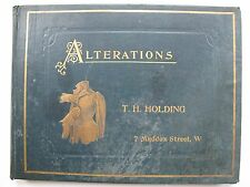ALTERATIONS and HOW TO USE BLOCK PATTERNS by T. H. HOLDING. 1887