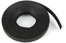 Cable Ties Velcro Double-Sided Strip 25mm Wide Hook & Loop Reel Black 25m