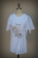 TOUCHED BY THE SUN TANNING T-Shirt Size Small Dilbert Style Beach ST THOMAS