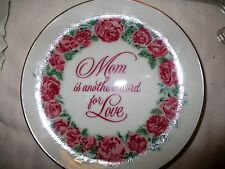 PORCELAIN HEIRLOOM DECORATIVE PLATE (MOM IS ANOTHER WORD FOR LOVE)