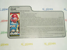 FAST DRAW 1987 FRENCH GI JOE FILECARD COBRA ACTION FORCE