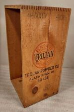 Vintage 1948 Trojan Explosives Dynamite Shipping Crate! Allentown, PA - COOL!