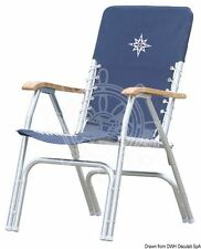 Osculati Deck Model Foldable Anodized Aluminium Chair with Polyester Seat