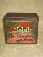 Rare Large Antique Collectable Walters' 'Palm' Chocolate Nougat Tin Box - 1930's