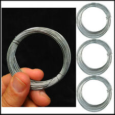 DIY Galvanised Wire 3x1mm Reel 12M Each Long Reels Metal Rope Home Garden Tools
