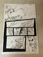 THUNDERCATS #5 original art, LION-O, CHEETARA, TYGRA, ACTION PAGE, 2004