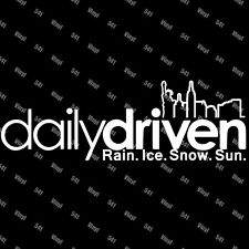 "Daily Driven Newyork Vinyl 9"" Decal illest euro jdm funny race car sticker vip"