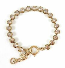 CATHERINE POPESCO Beautiful Adjustable Champagne Swarovski Crystal Gold Bracelet