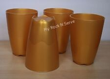Tupperware 4 Open House Tumblers 18oz Gold Color New