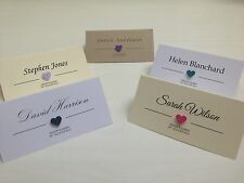 SAMPLE 3d heart personalised wedding / party place name cards