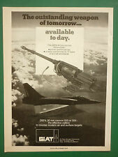 6/1985 PUB GIAT ARMEMENTS 30 MM CANNON 553 554 CANON MIRAGE 2000 ORIGINAL  AD