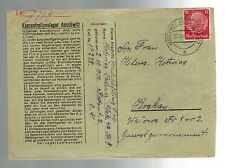 1941 Germany Auschwitz Concentration Camp Cover Tadeues Kotrica to Krakow