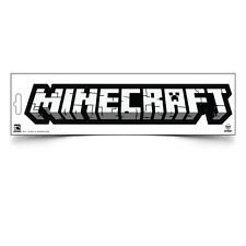 "Minecraft Logo Car Bumper Sticker Decal Official Licensed Authentic 10"" x 2"""