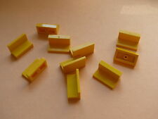 Lego 10 panneaux jaunes set 10159 8169 4543 7665 / 10 yellow panel