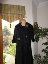 Black sleevless top de Sololá, taille uk 14-16,EU 42,RRP £ 45, neuf avec étiquettes
