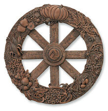 Celtic Wheel of the Year Wiccan by Maxine Miller resin wood look finish