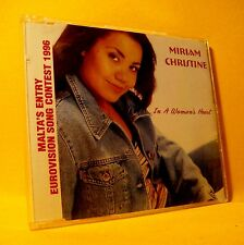 NEW MAXI Single CD Miriam Christine In A Woman's Heart 5TR 1996 Malta Eurovision