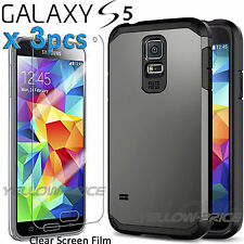 Samsung Galaxy S5 Case Hybrid Case with Built-in Screen Protectors for GALAXY S5