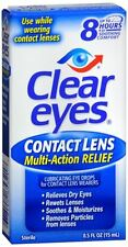 Clear Eyes Contact Lens Relief Soothing Eye Drops 0.50 oz (Pack of 8)